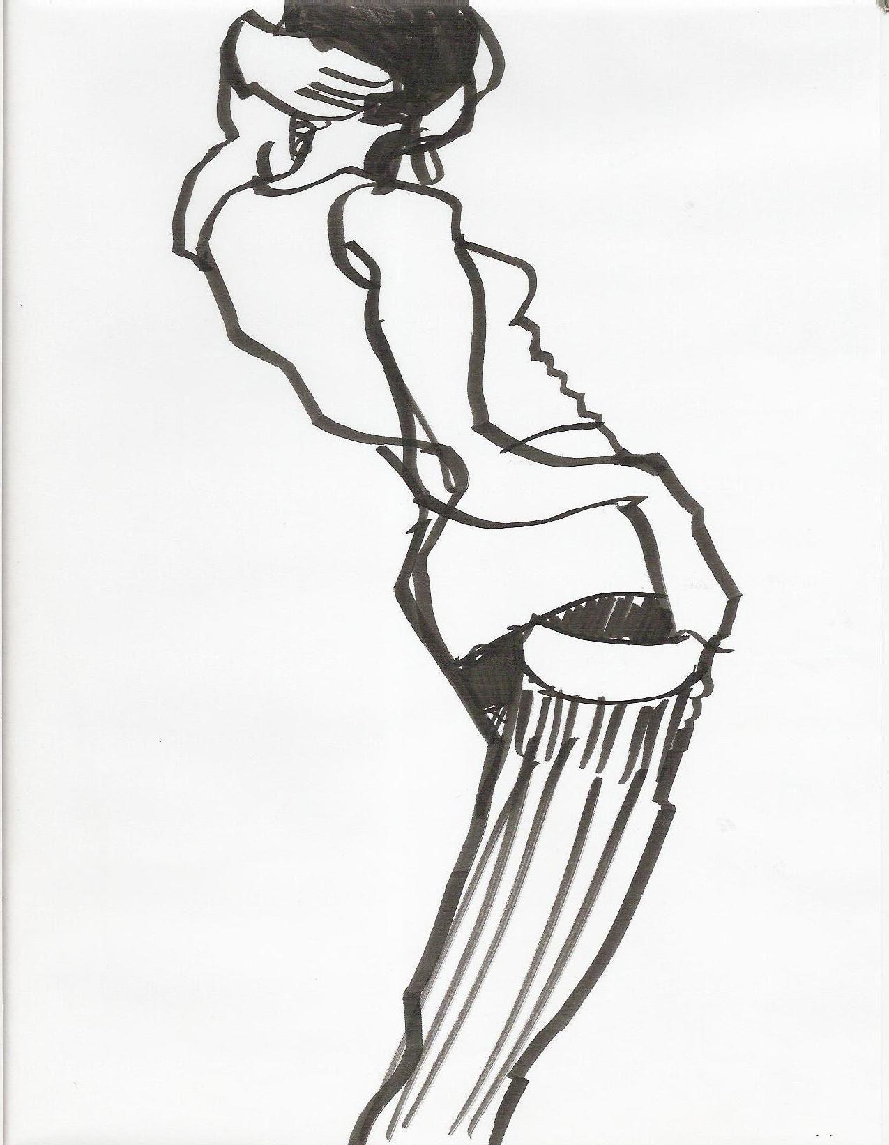 Line Quality In Art : Fashion illustration dancer brush pen model shaun gray