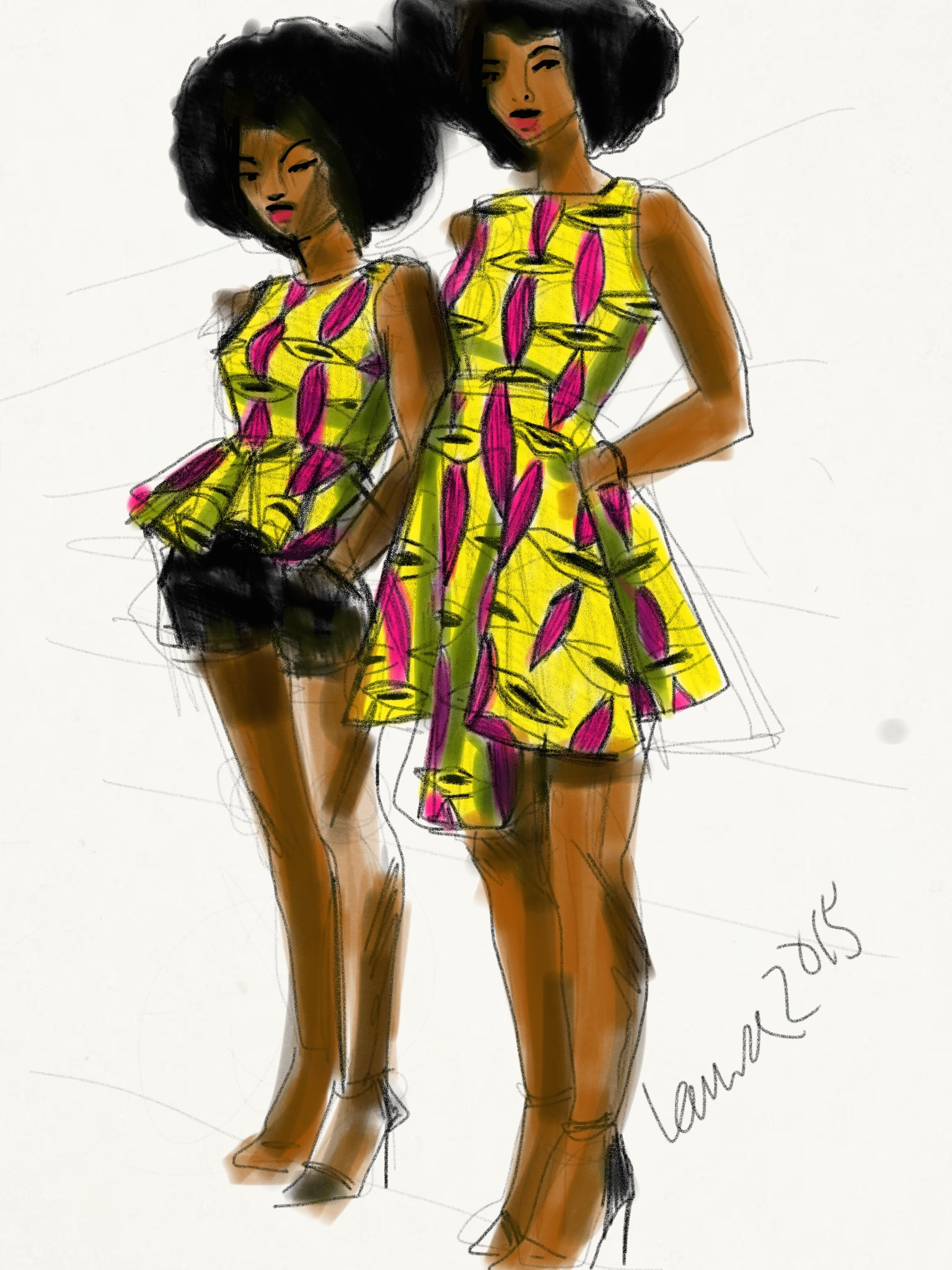 digital fashion sketching
